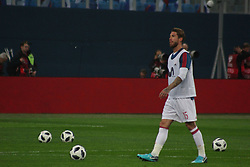 November 14, 2017 - Saint Petersburg, Russia - Of The Russian Federation. Saint-Petersburg. Arena Saint Petersburg, Zenit-arena. Friendly Match. The football world Cup. Team Russia Vs Team Spain. 3:3. Player Sergio Ramos. (Credit Image: © Russian Look via ZUMA Wire)