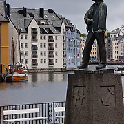 Three weeks aboard the Kong Harald. Hurtigruten, the Coastal Express. The center of the old city of Alesund, rebuilt after a fire in Art Nouveau style.