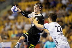 Hendrik Schreiber of Germany during handball match between National teams of Germany and France in Semifinal of 2018 EHF U20 Men's European Championship, on July 25, 2018 in Arena Zlatorog, Celje, Slovenia. Photo by Urban Urbanc / Sportida
