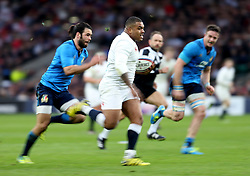 26 February 2017 : 6 Nations Rugby : England v Italy :<br /> replacement England prop Kyle Sinckler runs with the ball.<br /> Photo: Mark Leech