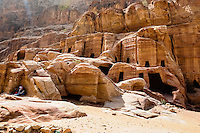 Petra is Jordan's most visited tourist attraction. Tombs, Street of Facades.