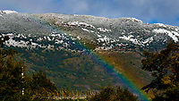 Rainbow. Lago Grey Hotel, Torres del Paine National Park. Image taken with a Fuji X-T1 camera and 55-200 mm telephoto lens.