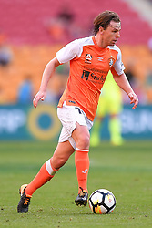 October 22, 2017 - Brisbane, QUEENSLAND, AUSTRALIA - Brett Holman of the Roar (#10) dribbles the ball during the round three Hyundai A-League match between the Brisbane Roar and the Newcastle Jets at Suncorp Stadium on October 22, 2017 in Brisbane, Australia. (Credit Image: © Albert Perez via ZUMA Wire)