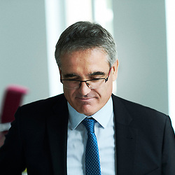 """Pierre Paris, chairman of the board of directors for """"Montagne d'Or"""", a gold-mining company driving a project to be set in Guyane. Paris, France. May 29, 2018.<br /> Pierre Paris, president du Conseil d'Administration de la Compagnie Miniere Montagne d'Or, a la tete d'un projet en Guyane. Paris, France. 29 mai 2018."""