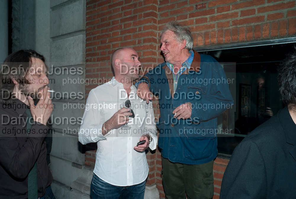 JASON BROOK; DAVID BAILEY,- DAVID BAILEY: THEN.-private view of an exhibition of photographs. Hamiltons. London. 6 July 2010. -DO NOT ARCHIVE-© Copyright Photograph by Dafydd Jones. 248 Clapham Rd. London SW9 0PZ. Tel 0207 820 0771. www.dafjones.com.
