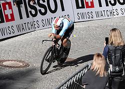 26.09.2018, Innsbruck, AUT, UCI Straßenrad WM 2018, Einzelzeitfahren, Elite, Herren, von Rattenberg nach Innsbruck (54,2 km), im Bild 3. Platz Victor Campenaerts (BEL) // third place Victor Campenaerts of Belgium during the men's individual time trial from Rattenberg to Innsbruck (54,2 km) of the UCI Road World Championships 2018. Innsbruck, Austria on 2018/09/26. EXPA Pictures © 2018, PhotoCredit: EXPA/ Reinhard Eisenbauer