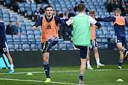Scotland defender Andrew Robertson (3) (Liverpool) warming up with Scotland midfielder Callum McGregor (10) (Celtic) during the UEFA European 2020 Qualifier match between Scotland and Russia at Hampden Park, Glasgow, United Kingdom on 6 September 2019.