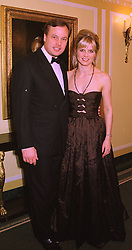 The MARQUESS & MARCHIONESS OF MILFORD HAVEN, at a ball in London on 12th February 1998.MFL 31