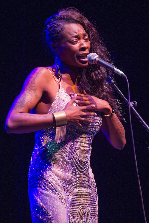 Concha Buika performs on stage on July 24, 2013 at Circo Price in Madrid, Spain.