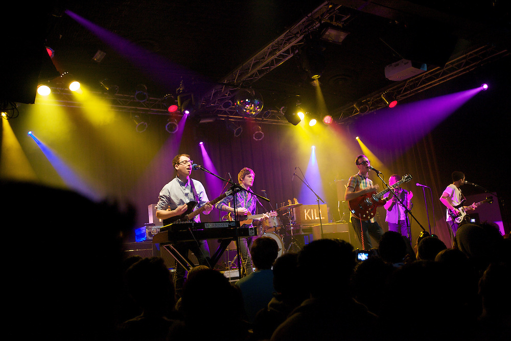 Hellogoodbye performs at the Highline Ballroom in Manhattan, Wednesday, February 9, 2011. The group's guitarist, Joseph Marro, leftmost, has been in several New Jersey Bands, including Early November. (Photo/Claudio Papapietro)