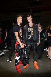 "Milan, Backstage, Parade Philipp Plein ""Spring / summer 2018 Men's and Women's fashion show"" in photo:"