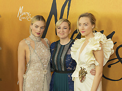 December 4, 2018 - New York, New York, United States - Margot Robbie, Josie Rourke and Saoirse Ronan attend the New York premiere of 'Mary Queen Of Scots' at Paris Theater  (Credit Image: © Lev Radin/Pacific Press via ZUMA Wire)