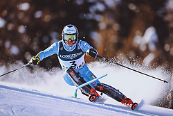 15.02.2021, Cortina, ITA, FIS Weltmeisterschaften Ski Alpin, Alpine Kombination, Herren, Slalom, im Bild Riccardo Tonetti (ITA) // Riccardo Tonetti of Italy in action during the Slalom competition for the men's alpine combined of FIS Alpine Ski World Championships 2021 in Cortina, Italy on 2021/02/15. EXPA Pictures © 2021, PhotoCredit: EXPA/ Johann Groder