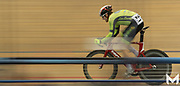 4/27/2019 - A cyclist competes in a sprint elimination race at the VELO Sports Center
