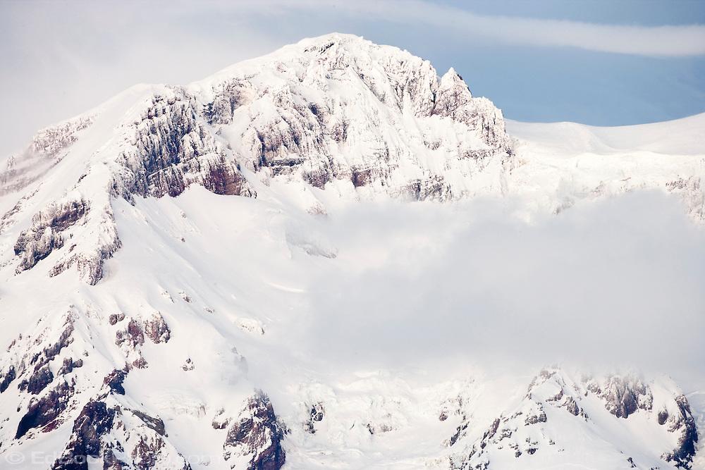 Sunset Ampitheater on Mount Rainier in winter on Mount Rainier in winter