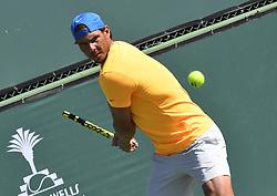 March 8, 2019 - Palm Desert, California, Usa - Tennis : BNP Paribas Open 2019 - Rafael Nadal - Espagne (Credit Image: © Panoramic via ZUMA Press)