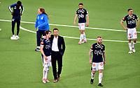 Fotball, 5. juli 2019 , Eliteserien ,   Strømsgodset - Stabæk 0-2<br /> Lars Vilsvik , Stian Ringstad , Martin Spelmann , Muhamed Keita og Mounir Hamoud , SIF depper etter tap