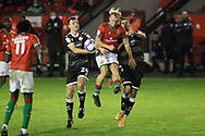 Walsall's Jake Scrimshaw during the EFL Sky Bet League 2 match between Walsall and Crawley Town at the Banks's Stadium, Walsall, England on 3 November 2020.