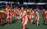 AMSTELVEEN - Joep de Mol (Ned) viert het kampioenschap tijdens de finale van het EK Hockey tussen Duitsland en Nederland in het Wagener Stadion op 12 juni 2021 in Amstelveen. COPYRIGHT KOEN SUYK