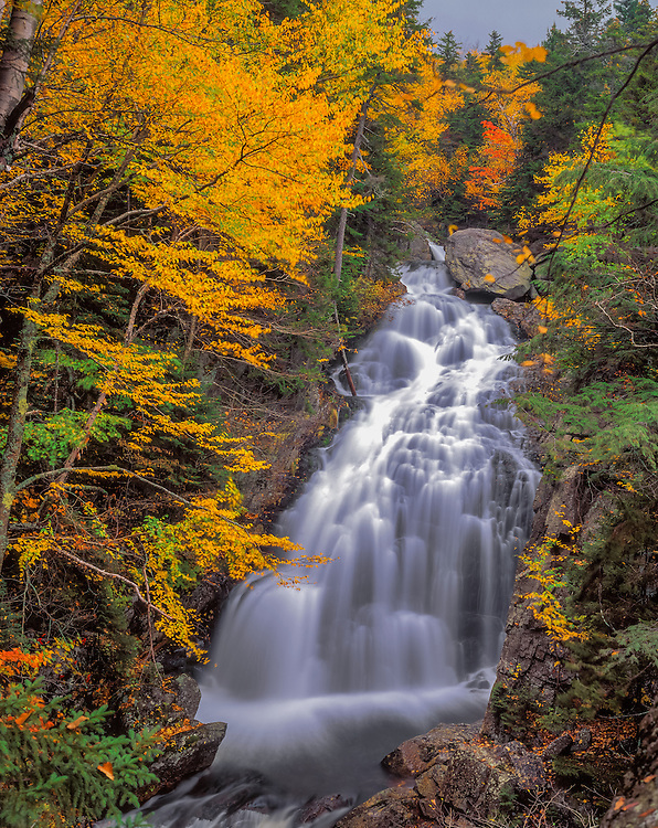 Crystal Cascades and fall colors, White Mountain National Forest, Pinkhams Grant, NH