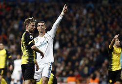 December 6, 2017 - Madrid, Spain - Cristiano Ronaldo of Real Madrid during the UEFA Champions League group H match between Real Madrid and Borussia Dortmund at Santiago Bernabéu on December 6, 2017 in Madrid, Spain. (Credit Image: © Manu_reino/SOPA via ZUMA Wire)
