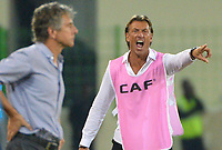 Herve Renard, entraineur de la Cote d Ivoire et Christian Gourcuff, selectionneur Alegrie