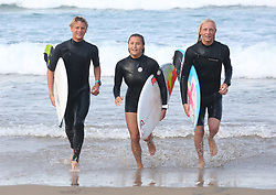 Surfers Luke Thompson,Kayla Noguiera and Tide-Lee Ireland will be off to USA to represent South Africa.Picture Zanele Zulu.24/08/2019
