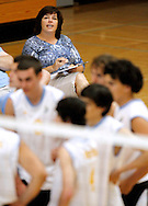 Heritage High coach Janet Hannigan watches her team before a match against Freedom High on Tuesday, May 8, 2012 at Heritage High School.  (Photo by Kevin Bartram)