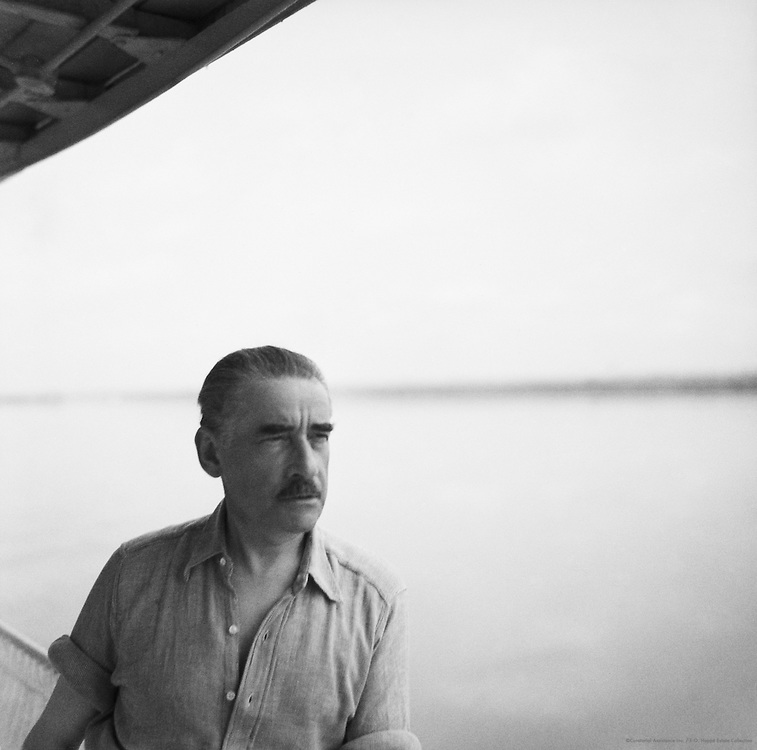 EOH on River Boat, Congo River (En Route to Brazzaville), Belgian Congo (now Democratic Republic of the Congo), Africa, 1937