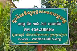 Wat Bo Radio Sign