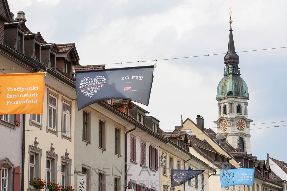 The old town of Frauenfeld in July, Thurgau, Switzerland