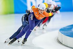 10-12-2016 NED: ISU World Cup Speed Skating, Heerenveen<br /> Massasprint vrouwen Irene Schouten #14, Bo-Reum  Kim #2