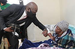 South Africa - Durban - 25 June 2020 - Bheki Cele National Minister of Police addresses ANC members  after seeing family members of murdered councillor Bhekithemba Phungula in uMlazi, Durban on the 25 June 2020. Picture: Bongani Mbatha/African News Agency(ANA)