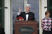 Senator John W. Warner receiving the Thomas Jefferson Foundation award. Photo/Andrew Shurtleff
