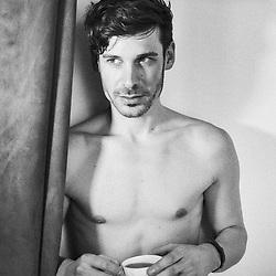 Parker Marx, an adult performer in the independent porn industry, drinking tea in an apartment in Paris, France. December 6, 2017.<br /> Parker Marx, acteur dans le milieu du film pornographique independant, boit le the dans un appartement a Paris, France. 6 december 2017.
