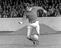 Billy Millen, footballer, Linfield FC, Belfast, N Ireland, August 1970. 1970080295BM2<br /> <br /> Copyright Image from Victor Patterson, Belfast, UK<br /> <br /> t: +44 28 9066 1296 (from Rep of Ireland 048 9066 1296)<br /> m: +44 7802 353836<br /> e: victorpattersonbelfast@gmail.com<br /> <br /> www.images4media.com<br /> <br /> Please see my full Terms and Conditions of Use at https://www.images4media.com/p/terms-conditions - it is IMPORTANT that you familiarise yourself with them.<br /> <br /> Images used online incur an additional cost. This cost should be agreed in writing in advance. Online images must be visibly watermarked i.e. © Victor Patterson or that of the named photographer within the body of the image. The original metadata must not be deleted from images used online.<br /> <br /> This image is only available for the use of the download recipient i.e. television station, newspaper, magazine, book publisher, etc, and must not be passed on to a third party. It is also downloaded on condition that each and every usage is notified within 7 days to victorpattersonbelfast@gmail.com.<br /> <br /> The right of Victor Patterson (or the named photographer) to be identified as the author is asserted in accordance with The Copyright Designs And Patents Act (1988). All moral rights are asserted.