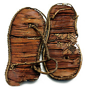 Woven rush Egyptian sandals from Saqqara 1000 BC-300 BC