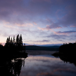 Dawn on Second Connecticut Lake in Pittsburg, New Hampshire.