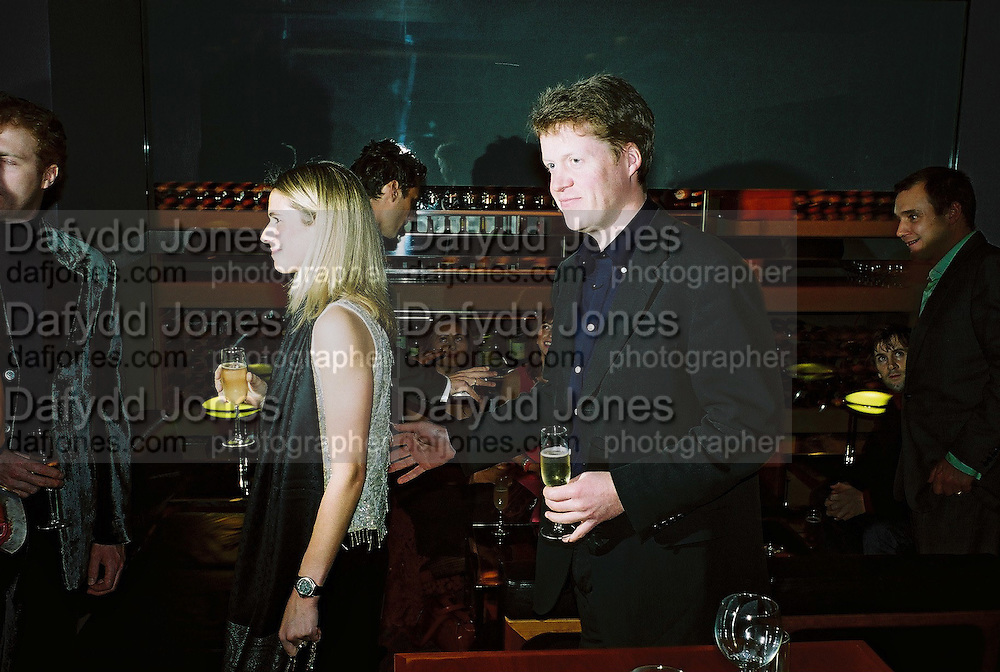 Viscount Althorp. Gilda's Club party. Isola. London. 5/2/01 © Copyright Photograph by Dafydd Jones 66 Stockwell Park Rd. London SW9 0DA Tel 020 7733 0108 www.dafjones.com