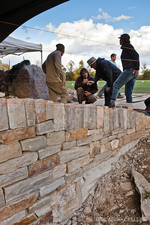 """Festival of Stone 2012 - A two-day dry stone walling festival organized by """"Dry Stone Walling Across Canada"""""""