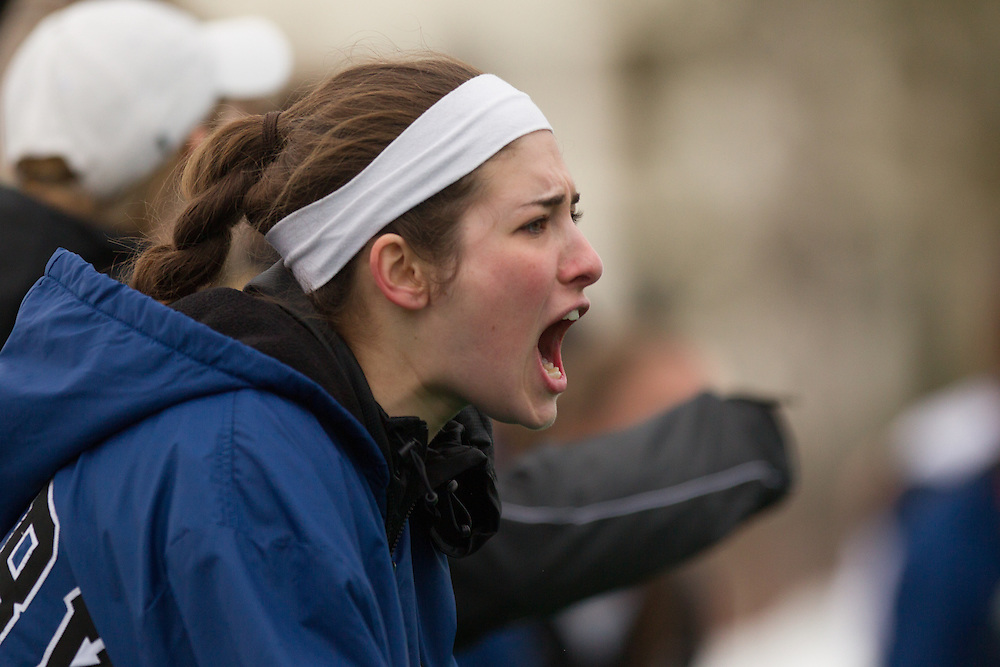 , during a NCAA Division III women's lacrosse game against at Tufts University on March 15, 2014 in Waterville, ME. (Dustin Satloff/Colby Athletics)
