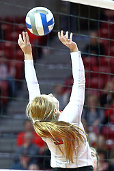 18 November 2016:  Jacqueline Twing during an NCAA women's volleyball match between the Northern Iowa Panthers and the Illinois State Redbirds at Redbird Arena in Normal IL (Photo by Alan Look)