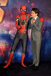 """attends the Avengers """"Infinity War"""" UK Fans Screening at the BBC Studio in London. 08 Apr 2018 Pictured: Tom Holland. Photo credit: Fred Duval / MEGA TheMegaAgency.com +1 888 505 6342"""