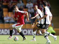 Photo: Paul Thomas.<br /> Port Vale v Bristol City. Coca Cola League 1. 23/09/2006.<br /> <br /> Richard Keogh (L) of Bristol tries to get away from Leon Constantine (10) and Jeff Smith (11).