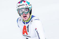 "29.01.2019, Planai, Schladming, AUT, FIS Weltcup Ski Alpin, Slalom, Herren, 2. Lauf, im Bild Daniel Yule (SUI) // Daniel Yule of Switzerland reacts after his 2nd run of men's Slalom ""the Nightrace"" of FIS ski alpine world cup at the Planai in Schladming, Austria on 2019/01/29. EXPA Pictures © 2019, PhotoCredit: EXPA/ JFK"