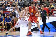 DESCRIZIONE: Berlino EuroBasket 2015 - <br /> Turkey Spain<br /> GIOCATORE: Pau Gasol<br /> CATEGORIA: Controcampo Penetrazione<br /> SQUADRA: Spain<br /> EVENTO: EuroBasket 2015 <br /> GARA: Berlino EuroBasket 2015 - Turkey vs Spain<br /> DATA: 06-09-2015 <br /> SPORT: Pallacanestro <br /> AUTORE: Agenzia Ciamillo-Castoria/I.Mancini <br /> GALLERIA: FIP Nazionali 2015 FOTONOTIZIA: Berlino EuroBasket 2015 - Turkey vs Spain