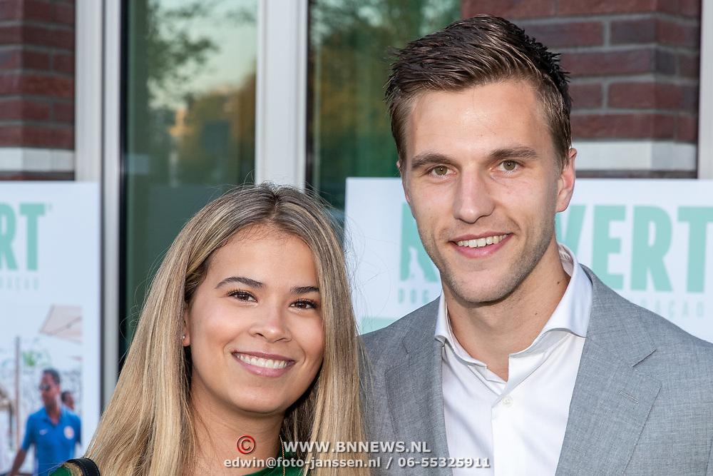 NLD/Amsterdam/20181005 - Benefietdiner Kluivert Dog rescue, Joel Veltman en partner Naomi Hagenstein