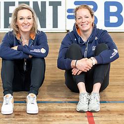 19-02-2020: Wielrennen: persmoment KNWU: Alkmaar. <br />Amy Pieters, Kirsten Wild