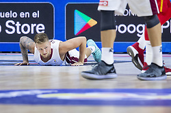 September 17, 2018 - Madrid, Spain - Aigars Skele of Latvia during the FIBA Basketball World Cup Qualifier match Spain against Latvia at Wizink Center in Madrid, Spain. September 17, 2018. (Credit Image: © Coolmedia/NurPhoto/ZUMA Press)