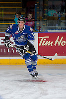 KELOWNA, CANADA - DECEMBER 30: Eric Florchuk #14 of the Victoria Royals warms up against the Kelowna Rockets on December 30, 2016 at Prospera Place in Kelowna, British Columbia, Canada.  (Photo by Marissa Baecker/Shoot the Breeze)  *** Local Caption ***